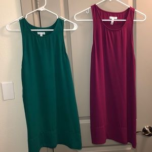 Leith Dresses - both for $40 green and pink